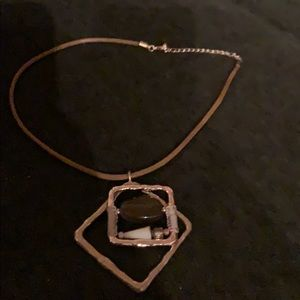 New without tags leather cord necklace